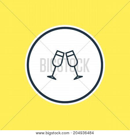 Beautiful Beverage Element Also Can Be Used As Celebrate Element.  Vector Illustration Of Beverage Outline.