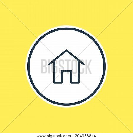Can Be Used As House Element.  Vector Illustration Of Home Outline.