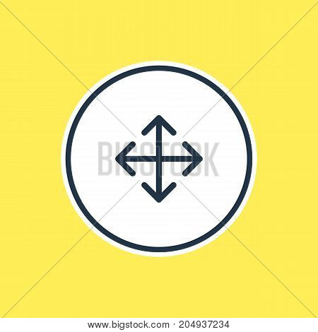 Widen Element.  Vector Illustration Of Enlarge Outline.