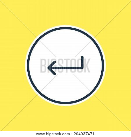 Beautiful Direction Element Also Can Be Used As Turn  Element.  Vector Illustration Of Enter Outline.