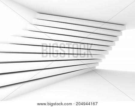 Pattern Of Stripe Beams On The Wall, 3D