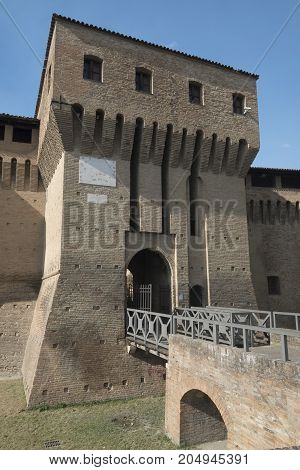 Forlimpopoli (Forli Cesena Emilia Romagna Italy): the castle in the main square of the city