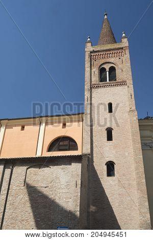 Forli (Emilia Romagna Italy): ancient church of Santissima Trinita exterior