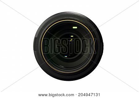 camera Lens Isolated on white background. glass.