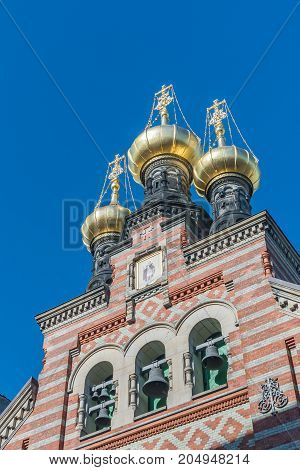 The Alexander Nevsky Church is the only Russian Orthodox church in Copenhagen. It was built by the Russian Government. The church is dedicated to the Russian patron saint Alexander Nevsky.