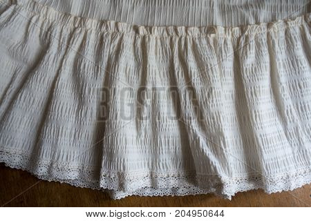 Frill With Lace On The Edge Of Skirt