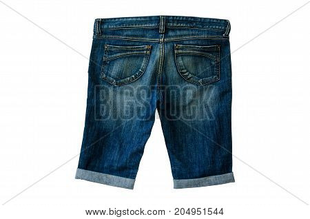 Jeans denim isolated on white background with clipping path