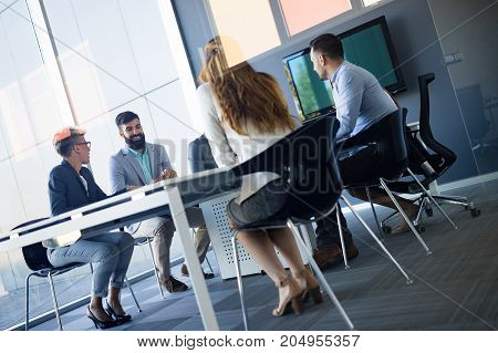 Picture of architects having meeting in their office