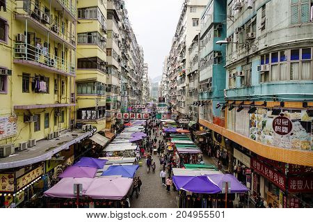 Old Market In Hong Kong