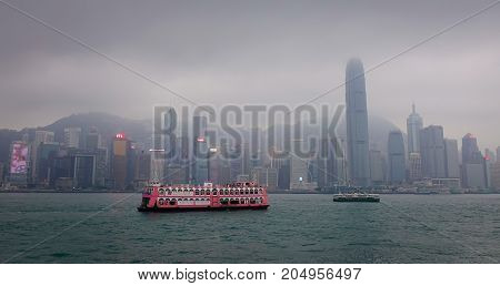 Cityscape Of Hong Kong, China