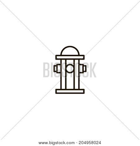 Hydrant flat icon. Single high quality symbol of line water vector for web design or mobile app. Color sign of danger for design logo. Single pictogram on white background