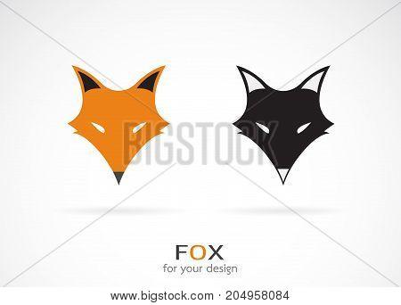 Vector of a fox face design on white background. Wild Animals. Fox icon.