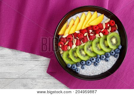 Delicious Chia Seeds Pudding With Berries