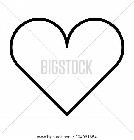 Heart thin line icon. 96x96 for Web Graphics and Apps.  Simple Minimal Pictogram.Vector