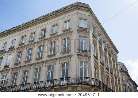 Facade Of A Residential Block Of Apartments In Paris, France