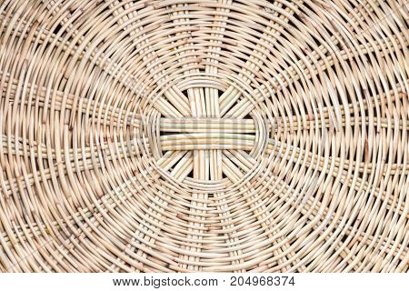 Close up of Woven rattan with natural patterns