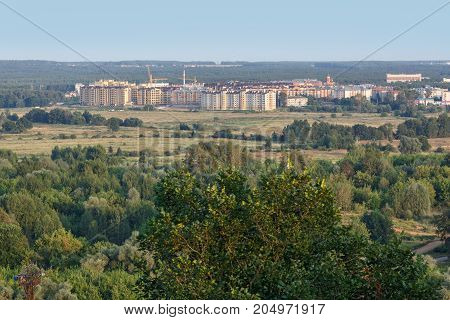 New residential district Kommunar, surrounded with forest. Vladimir, Russia