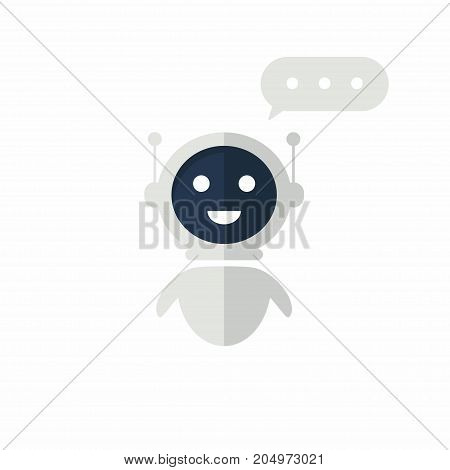Chat Bot Icon With Speech Bubble. Virtual Assistant For Website. Chat Bot Concept For Customer Sevic