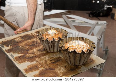 a cooking brioches at the pastry cook