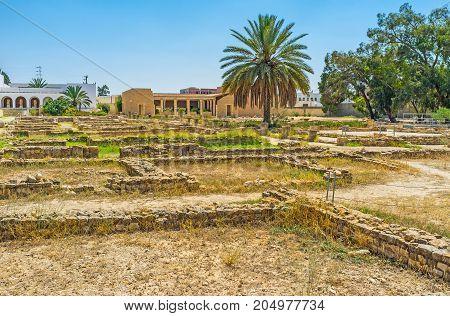 Foundations Of Roman Villas, El Djem