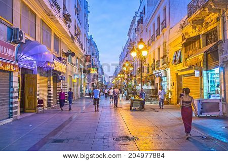 The Shopping Marseille Street In Tunis