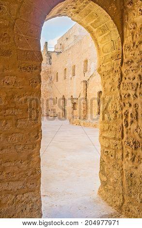The Narrow Pass In Ribat Of Monastir
