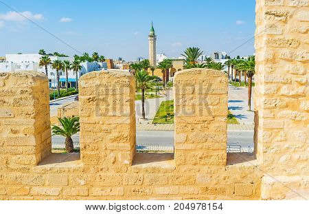 Through The Battlements Of Ribat, Monastir