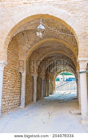 The Arched Pass In Tunis Medina