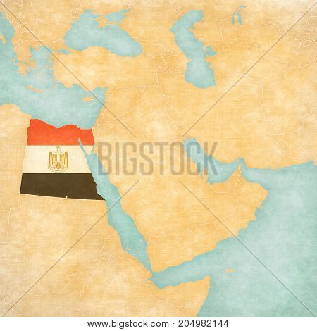 Map Of Middle East - Egypt