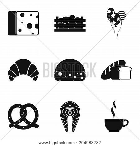 Bainty rest icons set. Simple set of 9 bainty rest vector icons for web isolated on white background