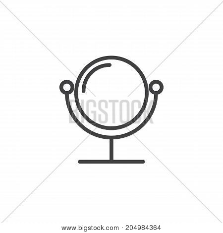 Mirror line icon, outline vector sign, linear style pictogram isolated on white. Symbol, logo illustration. Editable stroke