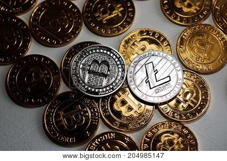 Silver Bitcoin And Litecoin