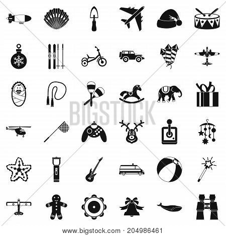 Child icons set. Simple style of 36 child vector icons for web isolated on white background