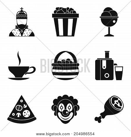 Bounty holiday icons set. Simple set of 9 bounty holiday vector icons for web isolated on white background