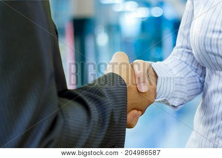 Businessmen Shake Hands.