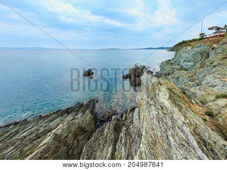 Summer Morning Rocky Coast (chalkidiki, Greece).