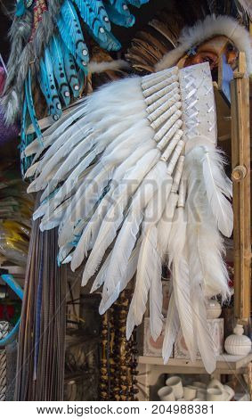 Beautiful white bird feathers for decorative purposes