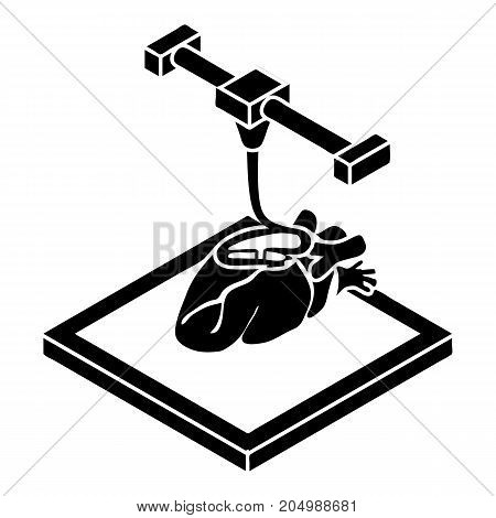 Heart d printing icon. Simple illustration of heart d printing vector icon for web design isolated on white background