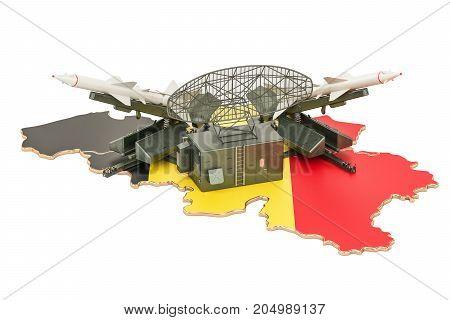Belgian missile defence system concept 3D rendering