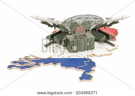 Netherlands missile defence system concept 3D rendering