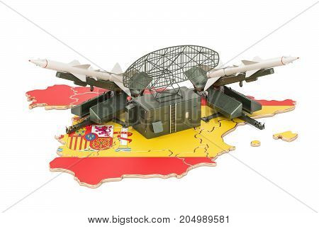 Spanish missile defence system concept 3D rendering