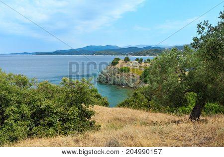 Summer Sea Coast (sithonia, Greece).