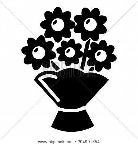 Wedding flower bucket icon . Simple illustration of wedding flower bucket vector icon for web design isolated on white background