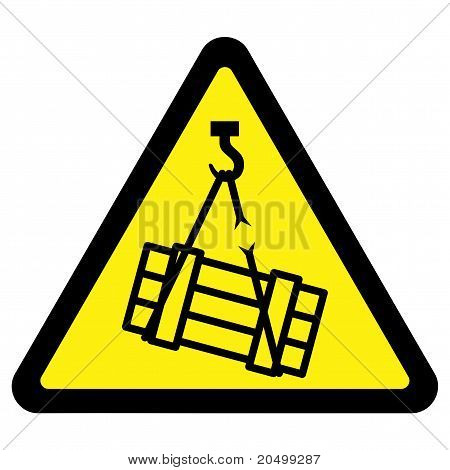 Suspended Load Hazard Sign
