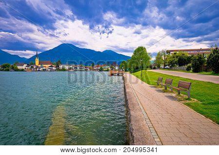 Idyllic German Lake Village Rottach Egern On Tegernsee Lake