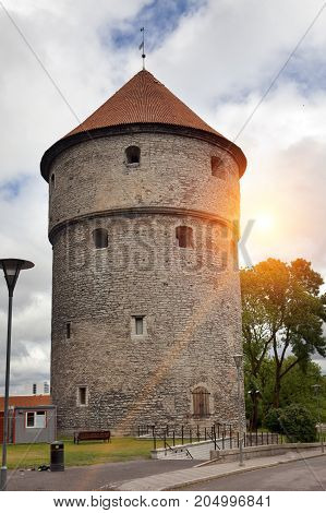 Kiek in de Kok tower. Old city Tallinn Estonia.
