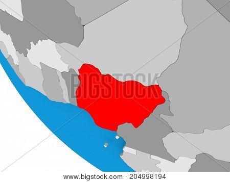 Nigeria On Political Globe