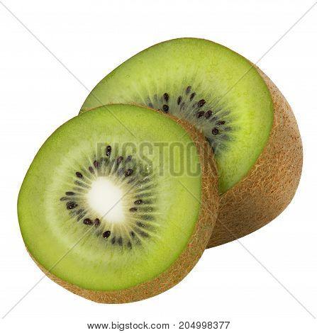 Kiwi fruit isolated on white background. Clipping Path