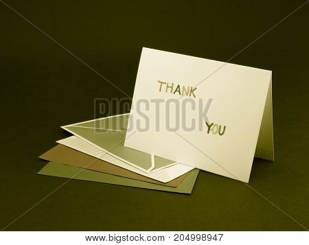 Message Card For Your Family And Friends; Thank You