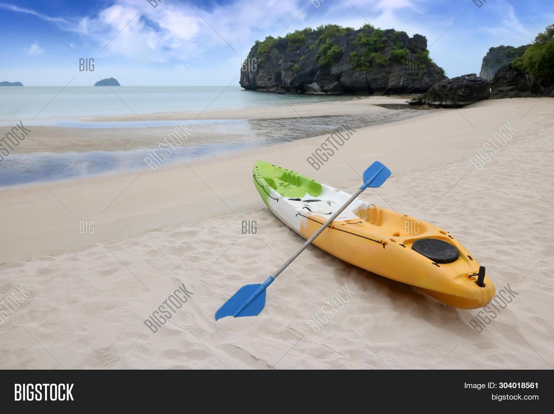 Kayaking Sea Canoe On Image & Photo (Free Trial) | Bigstock